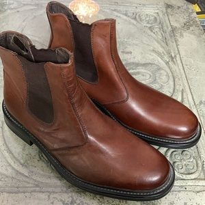 Men's Forge brown leather slip on boots